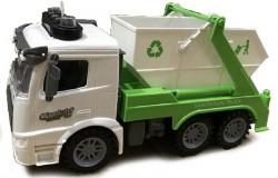 Skraldebil åben med lys, lyd & Try Me 1:14 grøn